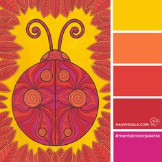 Mental Color Palette 3 - For energizing   Päivi Vesala - Mental Images colouring books