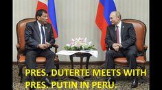 President Rodrigo Duterte met with two world leaders in Peru before the Asia-Pacific Economic Cooperation (APEC) Economic Leaders' Meeting formally opened on. Rodrigo Duterte, Second World, World Leaders, Peru, Presidents, Turkey