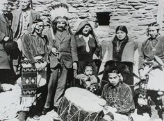 Albert Einstein with Hopi Indians. The Hopi gave Einstein the name- The Great Relative.