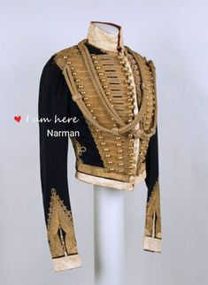 holdhard: Officer's pelisse, Lieutenant Walter Stephens Brinkley, (Prince Albert's Own) Hussars, 1848 National Army Museum Historical Costume, Historical Clothing, Vintage Outfits, Vintage Fashion, Military Style Jackets, Military Jacket, Military Fashion, Mens Fashion, British Uniforms