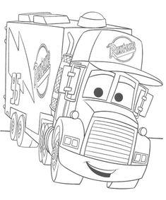 Pixar Truck Coloring Page