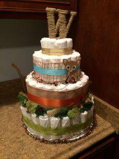 Woodland Baby Shower Diaper Cake