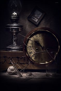 Looks steampunk to me. Impression Poster, Father Time, Somewhere In Time, Time Stood Still, As Time Goes By, Photoshop, Still Life Photography, White Photography, Time Art