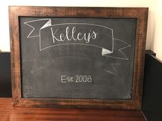 Practicing my hand lettering on the chalkboard my daddy @cigarboxjohnny made me. Bonus feature; it's magnetic! (He takes orders, go follow @cigarboxjohnny).