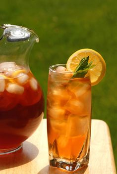 Homemade Ice Tea Syrup Concentrate - store in your refrigerator to make up a glass or full pitcher.