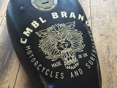 CMBL Wolf Tank designed by Brian Steely. Connect with them on Dribbble; Cafe Racer Tank, Hover Bike, Custom Moped, Motorcycle Tank, Wolf Design, Motor Scooters, Tank Design, Helmet Design, Bike Art