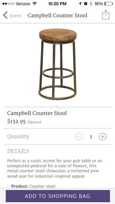 Love this simple stool