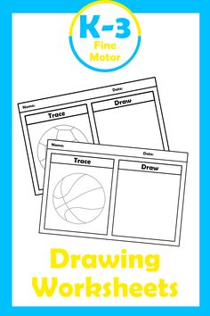 Are you looking for a drawing worksheets for your classroom or home schhol? Download sports theme trace & draw pages today from K-3 Resources for your fine motor skills lessons