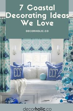 Coastal home design always makes us very, very exciting. Whether it just about having a cottage near the sea or dreaming about the ocean breeze. You can get a coastal feel by installing nautical notches such as anchor wall decor, ship-inspired bathtub, or bed. #decorholic #coastalhome #coastaldecoration #decorideas #homedecor