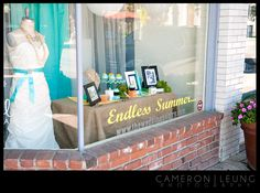"""window display ideas """"endless summer"""" the wedding pantry store"""