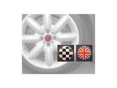 Center Cap (wheelcap) Checkered Flag - Mini Cooper & S Set Of 4 Mini Cooper Accessories, Checkered Flag, Mini Cooper S, Flag Design, My Ride, Cap, Bunting Design, Baseball Hat