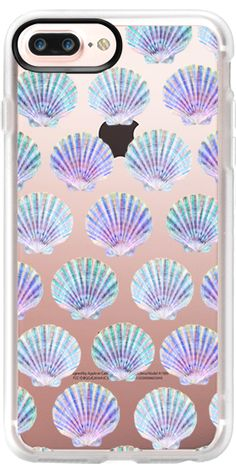 Casetify Protective iPhone 7 Plus Case and iPhone 7 Cases. Other Beach iPhone Covers - Sea Shell Pattern / Mermaid Treasure by Marta Olga Klara | Casetify