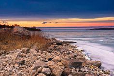Winter Sunset in Door County, WI (photo by Len Villano)