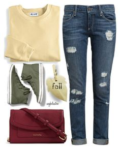 """""""September Missouri Morning...Chill in the Air"""" by angkclaxton ❤ liked on Polyvore featuring Blair, Paige Denim, Keds and Vera Bradley"""