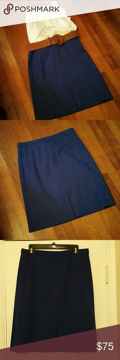 JCREW Cobalt blue pencil skirt Be the most stylish and chic at the next girls day Sunday brunch. This vibrant cobalt blue JCREW pencil skirt is perfect for so many occasions. Has side slit pockets and a small front split for sex appeal. Lined and in perfect new condition. BRAND NEW!!! NWT!! J. Crew Skirts Pencil