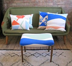 Tamasyn Gambell X Førest London Collaboration Spring 2015 | Facet, Rough Diamond + Curves cushions