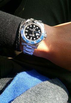 "GMT Master II ""Batman"" Luxury Watches, Rolex Watches, Watches For Men, Mens Fashion Suits, Mens Suits, Rolex Batman, Rolex Gmt Master, Vintage Watches, Gold Watch"