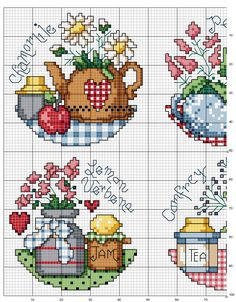 Schematic cross stitch Cooking Spices-3