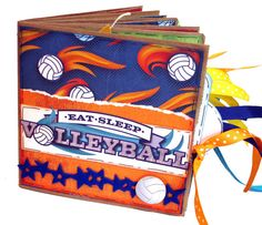 Eat Sleep Volleyball Premade Scrapbook  Paper by apicketfencelife, $28.00
