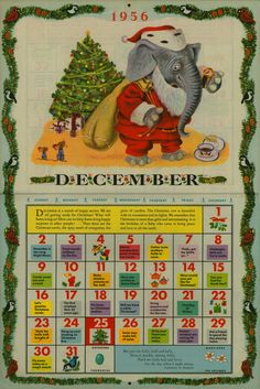 Free Printable  The Golden Calendar - 1956  Illustrated by Richard Scarry  By John Peter  Copyright 1955