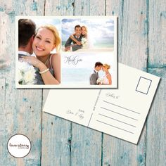 Postcard Wedding Thank you / Postcard Thank you / Beach Wedding / DIY Printable / Printed Cards with free envelopes