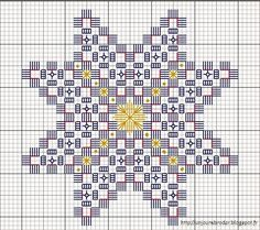 Christmas star- Etoile de Noël A Day to Embroider: Christmas Star … - Types Of Embroidery, Learn Embroidery, Hand Embroidery Stitches, Embroidery Techniques, Embroidery Patterns, Graph Paper Art, Bookmark Craft, Drawn Thread, Hardanger Embroidery