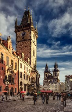По пути на Староместкую - On the way to Prague by Scorpio via 35photo