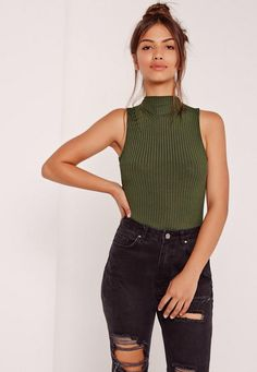 Get back to basics in style with this high neck bodysuit.