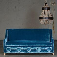 love the velvet couch