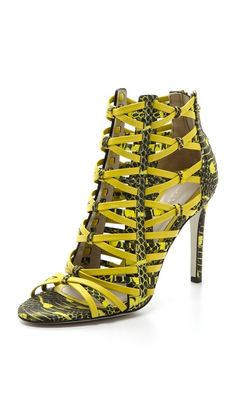 Jason Wu Snake Print Strappy Sandals...probably not but they combine snake skin and yellow