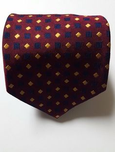 BROOKS BROTHERS ABSTRACT 100% SILK MEN'S NECK TIE MADE IN USA WOVEN IN ENGLAND #BrooksBrothers #Tie