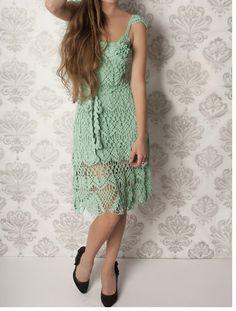 Irish crochet &: CROCHET DRESS..... ПЛАТЬЕ КРЮЧКОМ