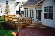 deck and patio - corner steps