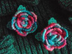 Rose Brooch in Needlepoint Bon Bon Pinks by BunniesMadeOfBread
