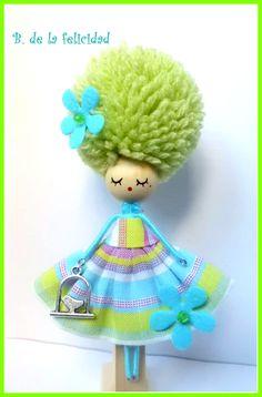 Fairy Crafts, Doll Crafts, Yarn Dolls, Clothespin Dolls, Flower Fairies, Miniature Dolls, Doll Accessories, Beautiful Dolls, Crochet Projects