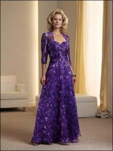 mother of the groom dresses purple