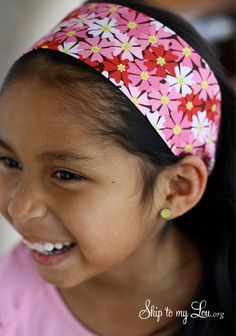 How to sew a headband {Kids Sewing Project} | Skip To My Lou