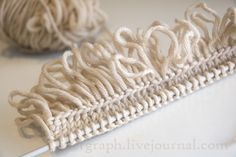 Loopy fringed cast on - site is in Russian but has great photo tutorials