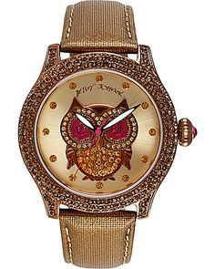 OWL FACE METALLIC BAND WATCH METALLIC - wish it weren't so darn expensive!