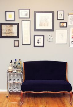I like the bar cart and the wall display--the pieces are more vertical which is a nice change of pace. And I love the &-of course!