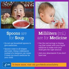 CDC.gov - Spoons are for Soup / Milliliters (mL) are for Medicine