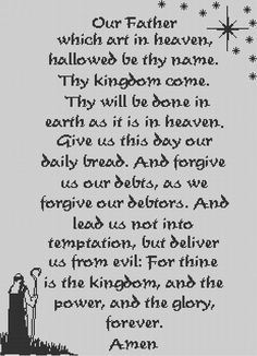 the lord's prayer filet crochet pattern | The Lord's Prayer in filet crochet-where to find it? – Crochetville