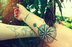 Mapa del Mundo, Frase: Amore, Cruz del Sur - Tatuajes para Mujeres. Encuentra esta muchas ideas mas de Tattoos. Miles de imágenes y fotos día a día. Seguinos en Facebook.com/TatuajesParaMujeres!