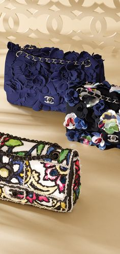 Embroidered lambskin classic flap... - CHANEL