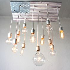 American Flag Chandelier, $365, by Cassidy Shulz Brush