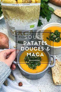 Soupe de patates douces & Maca :  elle stimulera les forces naturelles de votre organisme ! Fruits Déshydratés, Saveur, Cantaloupe, Main Dishes, France, Food, Sweet Potato, Yummy Recipes, Meal