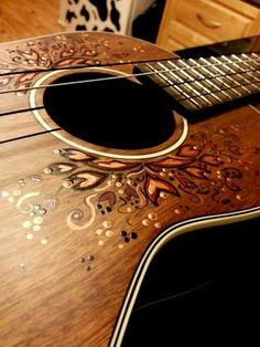 Hand painted ukulele by Olivia Alfred