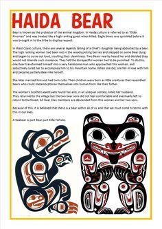 Haida Bear Haida Kunst, Arte Haida, Haida Art, Native American Totem, Native American Artifacts, Totem Pole Tattoo, Haida Tattoo, Bear Totem, Visit Vancouver