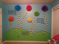 Dr. Suess! I would totally do something similar for a baby's room.