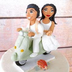 Indian wedding couple on a Vespa!